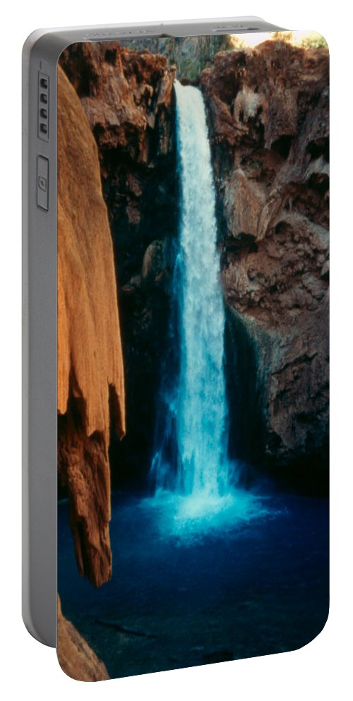 Portable Battery Charger featuring the photograph Mooney Falls by Heather Kirk