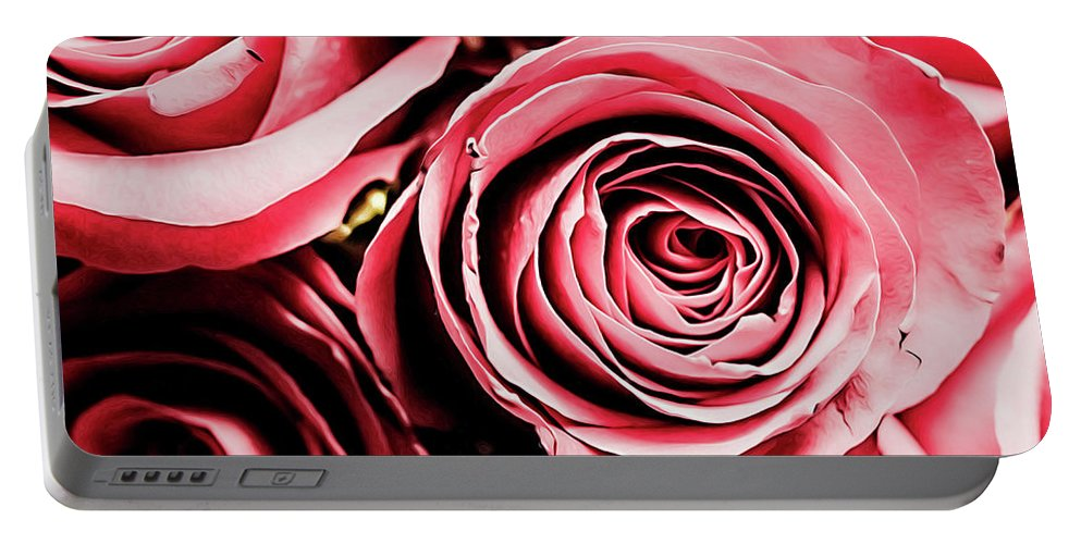 Roses Portable Battery Charger featuring the photograph Moonlight And Roses by Jessica Manelis