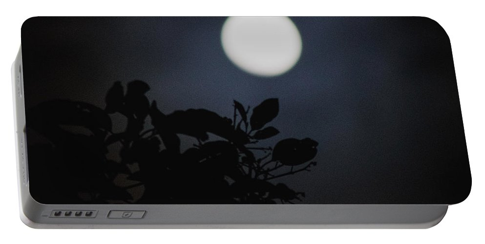 The Moon Portable Battery Charger featuring the photograph Moonlight And Tree 1 by Totto Ponce