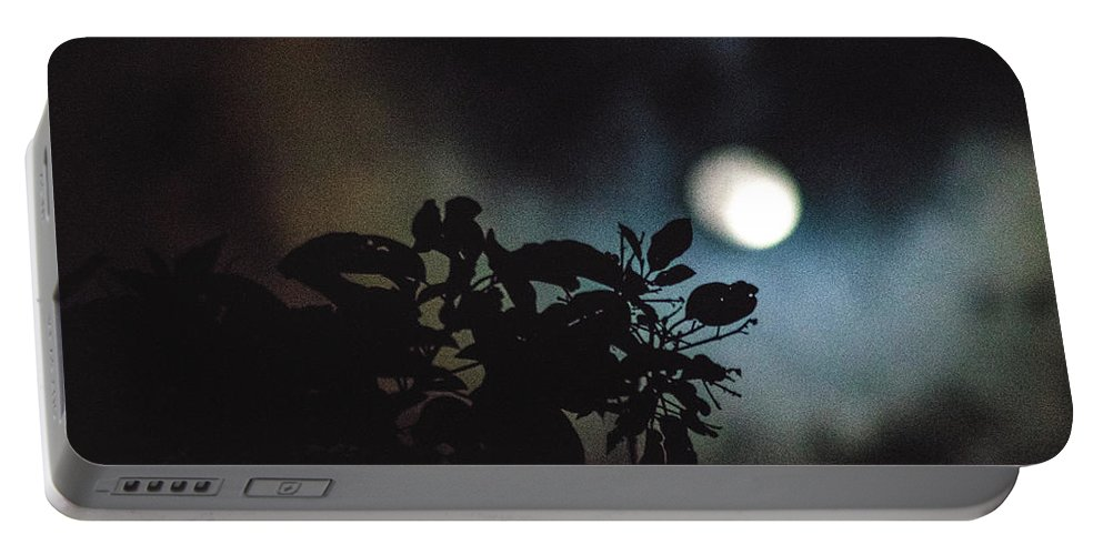 Full Moon Portable Battery Charger featuring the photograph Moonlight And Tree 2 by Totto Ponce