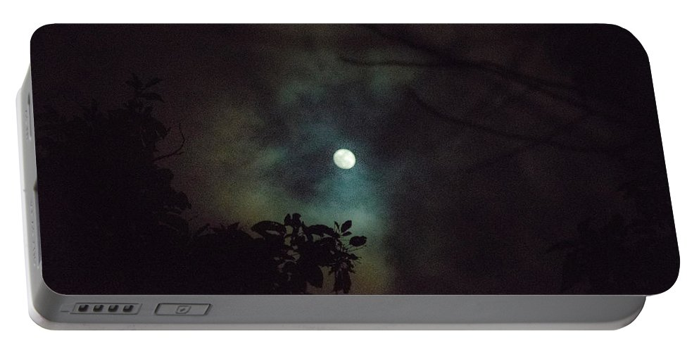 The Moon Portable Battery Charger featuring the photograph Moonlight And Tree 4 by Totto Ponce