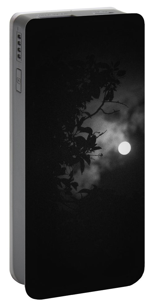 The Moon Portable Battery Charger featuring the photograph Moonlight And Tree by Totto Ponce