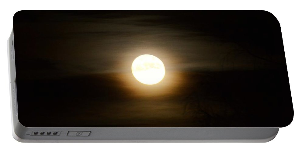 Moon Portable Battery Charger featuring the photograph Moonlight by FL collection