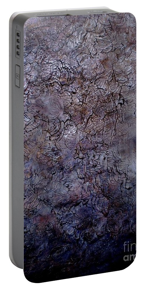 Martinadibella Portable Battery Charger featuring the painting Moonlight by Martina Di Bella
