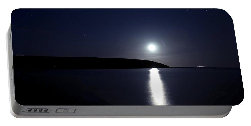 Landscape Portable Battery Charger featuring the photograph Moonlight by Svetlana Sewell