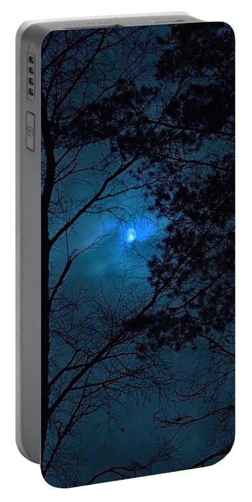 Lehtokukka Portable Battery Charger featuring the photograph Moonshine 10 Blue Sky by Jouko Lehto