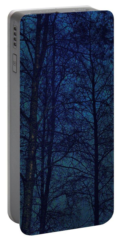 Lehtokukka Portable Battery Charger featuring the photograph Moonshine 12 Blue Sky by Jouko Lehto