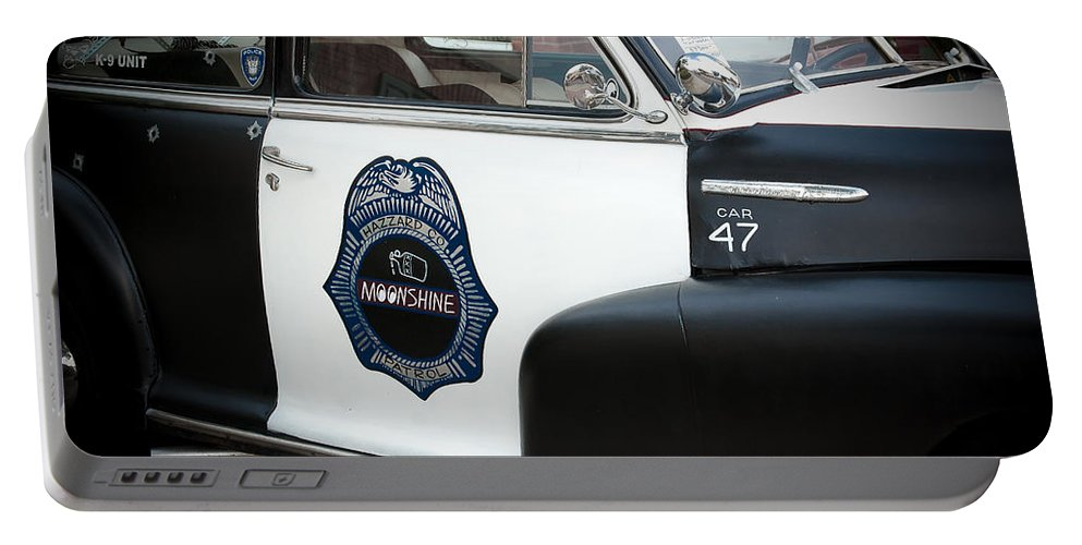 Chevrolet Portable Battery Charger featuring the photograph Moonshine Patrol by DigiArt Diaries by Vicky B Fuller