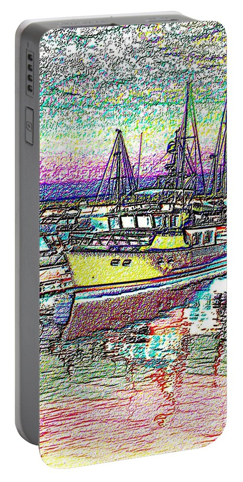 Seattle Portable Battery Charger featuring the photograph Moorage by Tim Allen