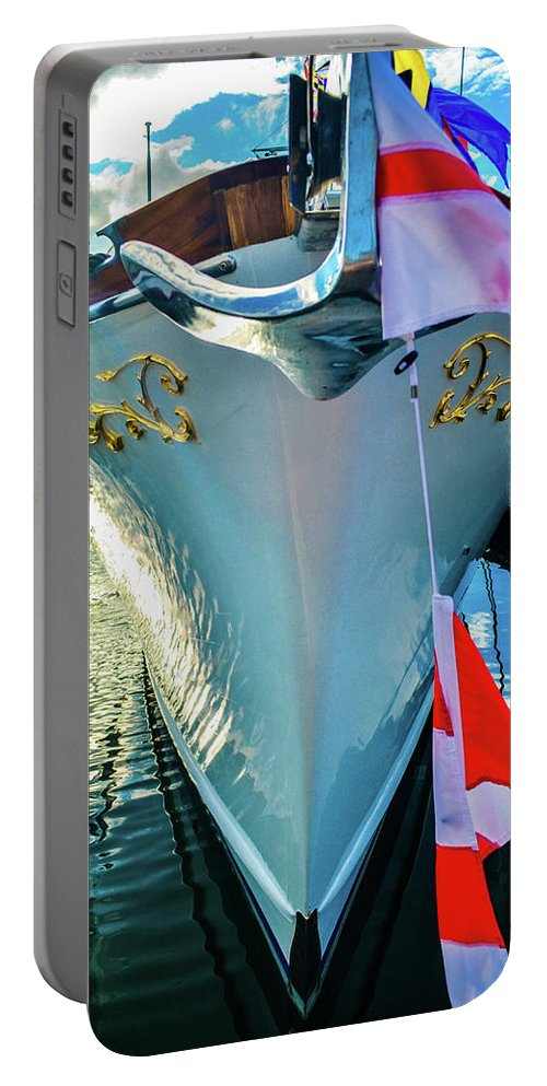 Seascape Portable Battery Charger featuring the photograph Moored by Jason Brooks