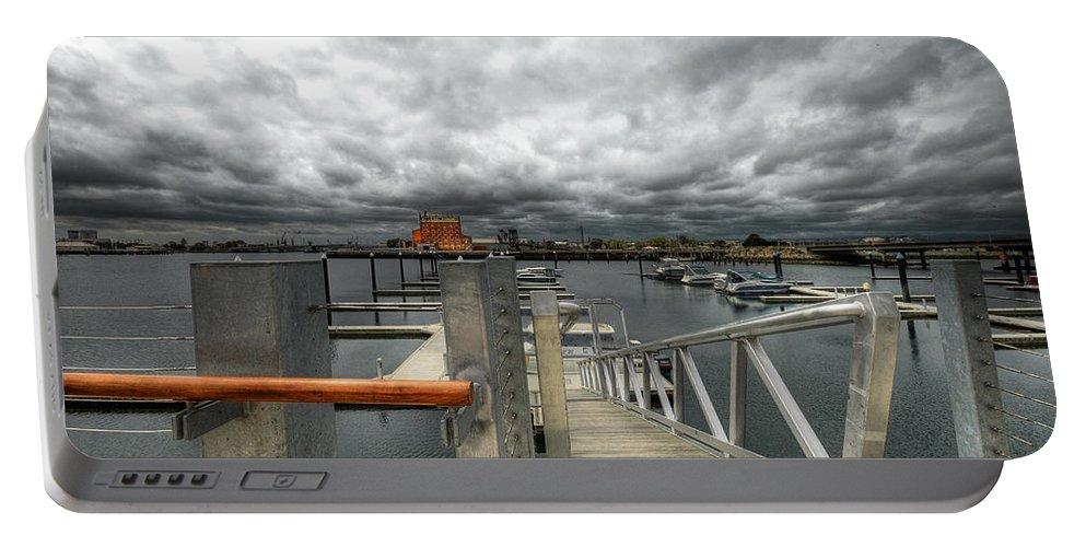 Moorings Portable Battery Charger featuring the photograph Moorings by Wayne Sherriff