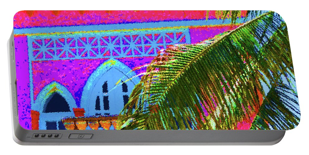 Miami Beach Portable Battery Charger featuring the photograph Moorish Deco by Jost Houk
