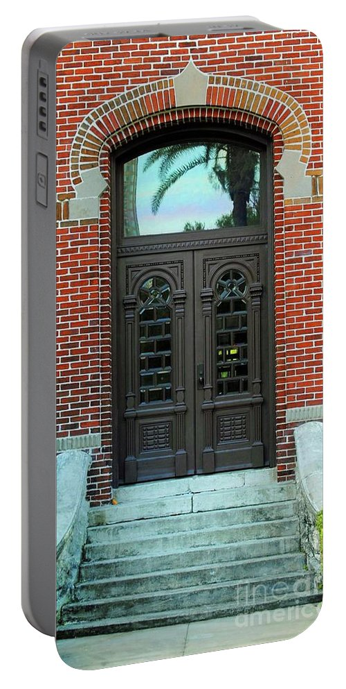 University Of Tampa Portable Battery Charger featuring the photograph Moorish Door by Jost Houk