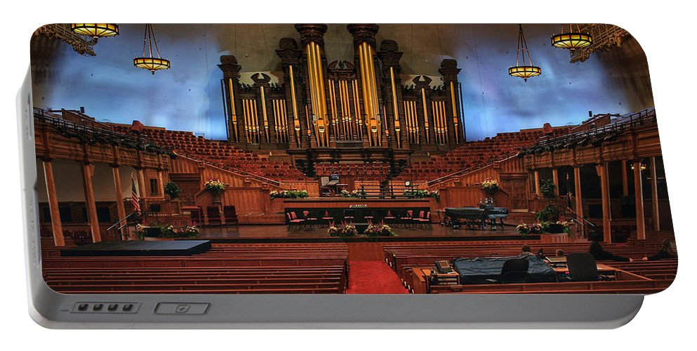 Mormon Portable Battery Charger featuring the photograph Mormon Meeting Hall by Buck Buchanan
