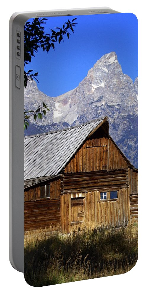 Barn Portable Battery Charger featuring the photograph Mormon Row Barn 1 by Marty Koch