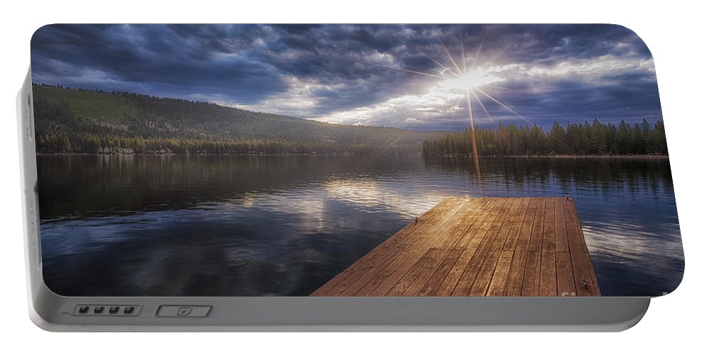 Donner Lake Portable Battery Charger featuring the photograph Morning by Anthony Michael Bonafede
