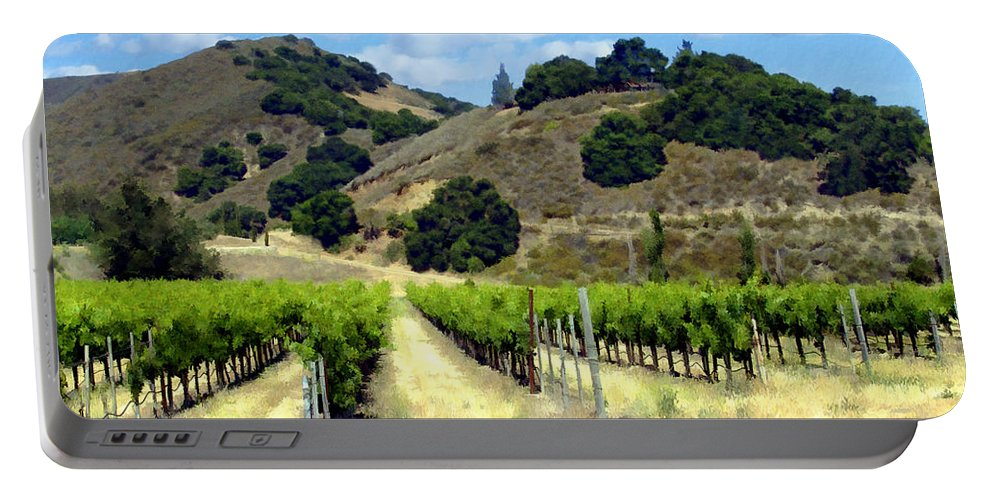 Vineyards Portable Battery Charger featuring the photograph Morning At Mosby Vineyards by Kurt Van Wagner
