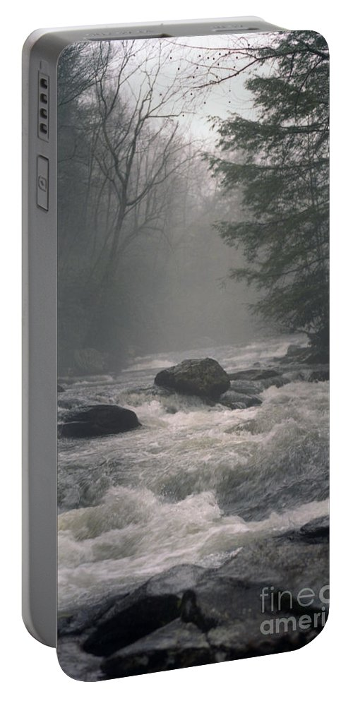 Rivers Portable Battery Charger featuring the photograph Morning At The River by Richard Rizzo