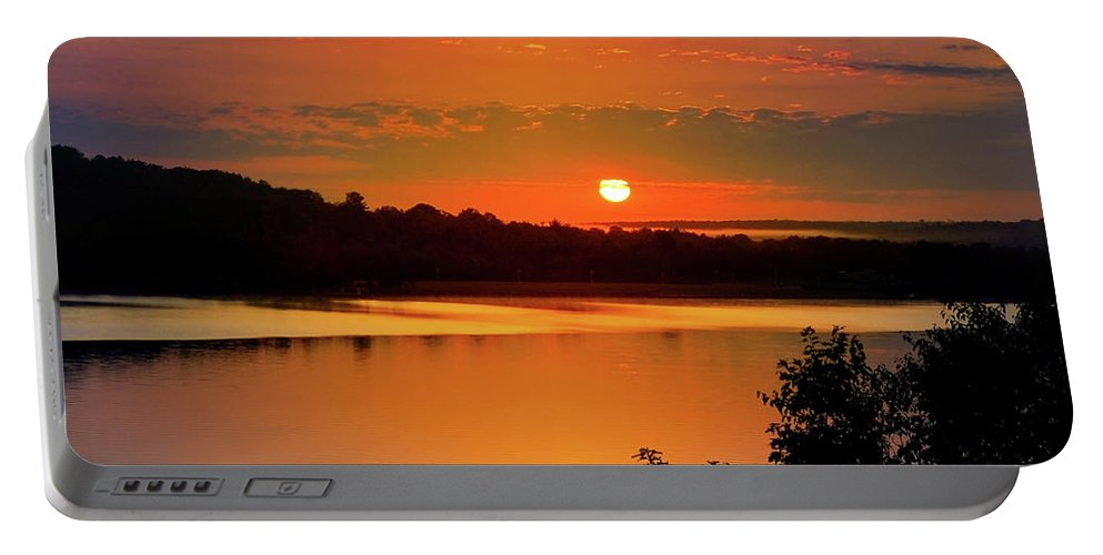 Michigan Portable Battery Charger featuring the photograph Morning Calm by Christina Rollo