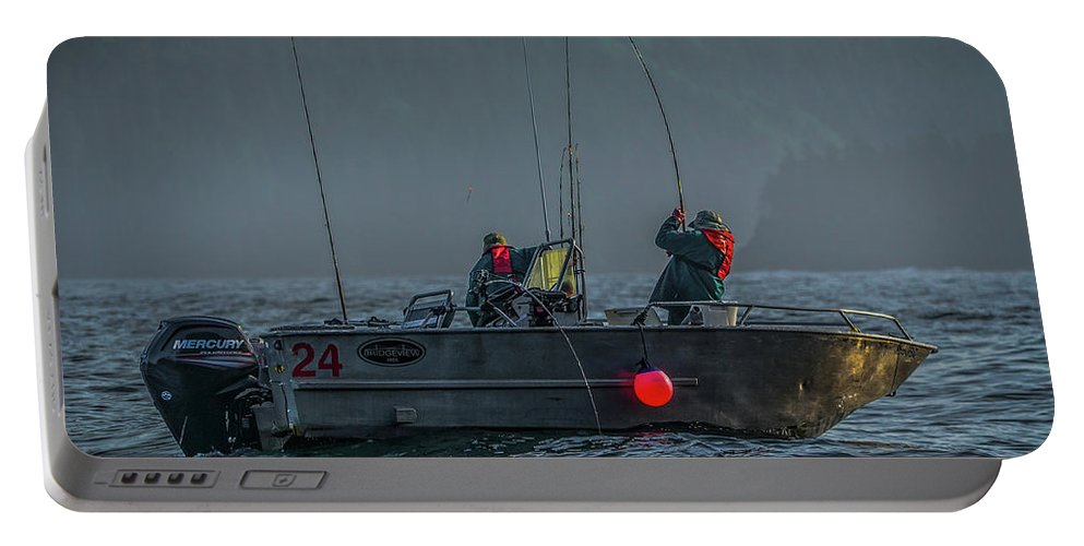 Fishing Portable Battery Charger featuring the photograph Morning Catch by Jason Brooks