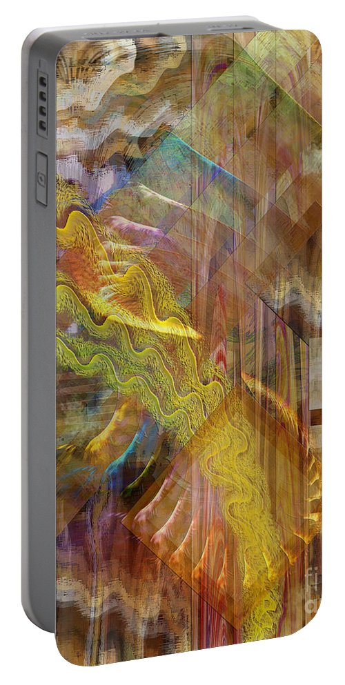 Morning Dance Portable Battery Charger featuring the digital art Morning Dance by John Beck