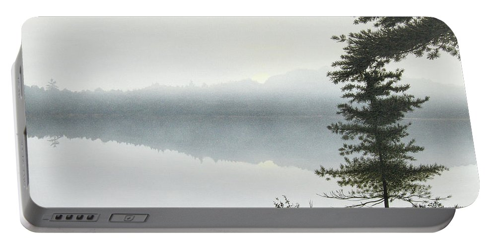Landscapes Portable Battery Charger featuring the painting Morning Fog by Kenneth M Kirsch