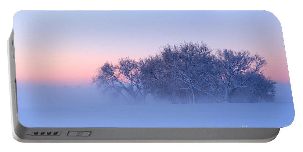 Fog Portable Battery Charger featuring the photograph Morning Fog by Ronda Kimbrow