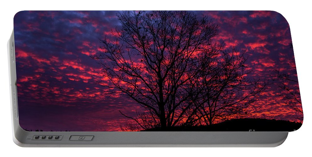 Sky Portable Battery Charger featuring the photograph Morning Glory 1 by Mim White