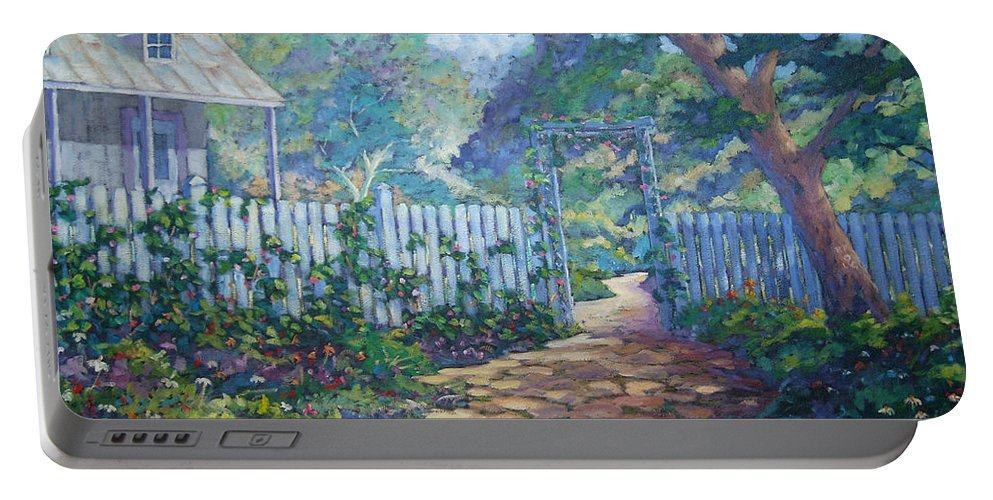 Painter Art Portable Battery Charger featuring the painting Morning Glory by Richard T Pranke
