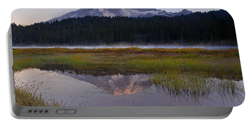 Sunrise Portable Battery Charger featuring the photograph Morning Glow by Mike Dawson