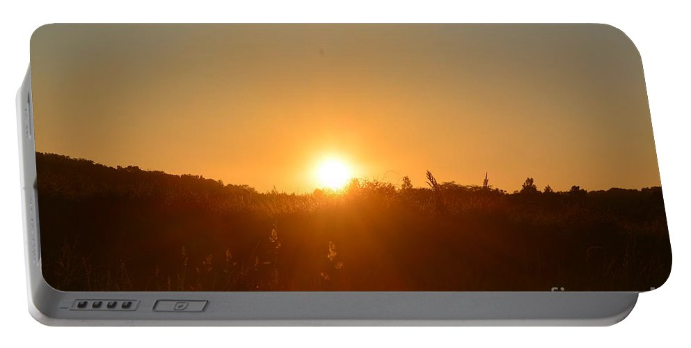 Morning In May Portable Battery Charger featuring the photograph Morning In May by Maria Urso