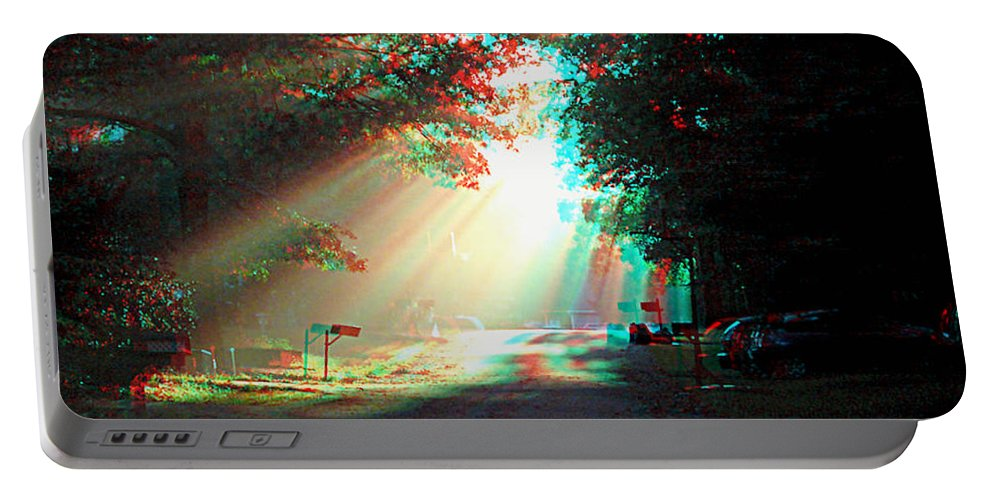 3d Portable Battery Charger featuring the photograph Morning Light - Use Red-cyan 3d Glasses by Brian Wallace
