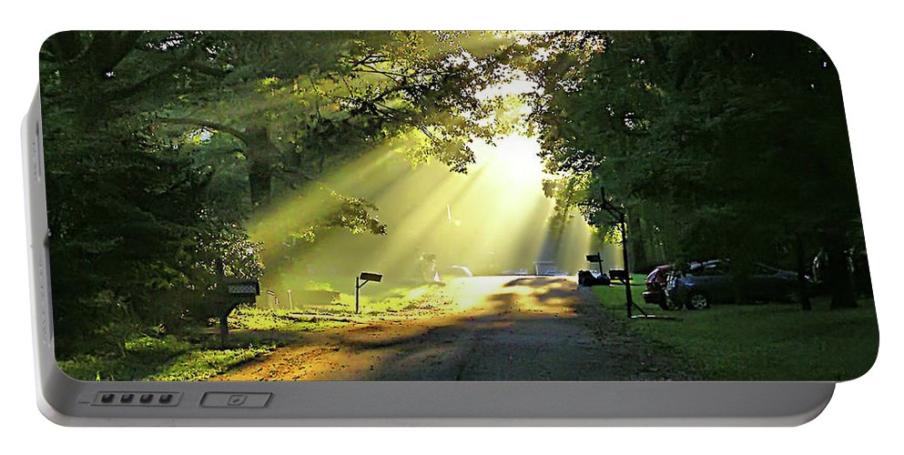 2d Portable Battery Charger featuring the photograph Morning Light by Brian Wallace