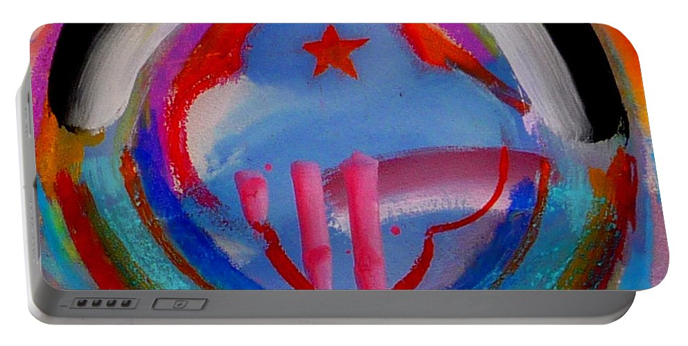 Logo Portable Battery Charger featuring the painting Morning Light by Charles Stuart