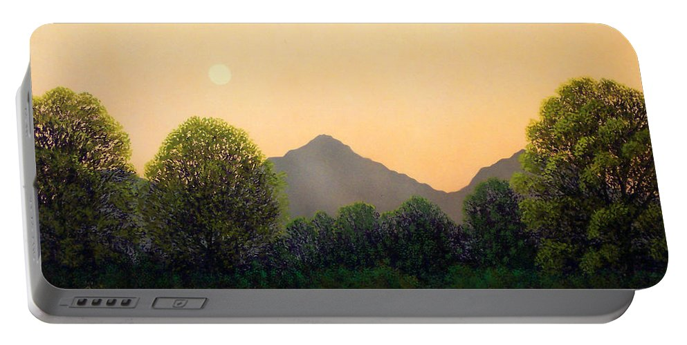 Landscape Portable Battery Charger featuring the painting Morning Light by Frank Wilson