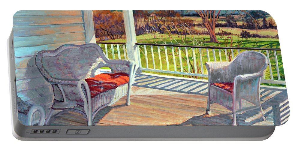 Impressionism Portable Battery Charger featuring the painting Morning Light by Keith Burgess
