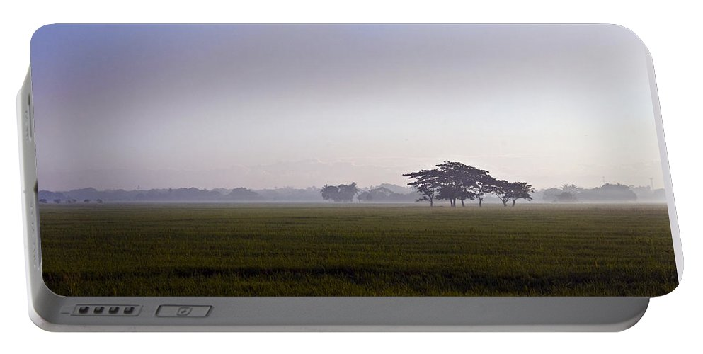 Nature Portable Battery Charger featuring the photograph Morning Mist by George Cabig