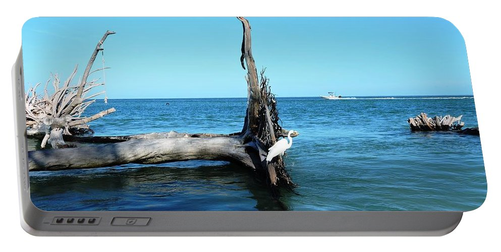 Blue Portable Battery Charger featuring the photograph Morning On Longboat Key by Beth Williams
