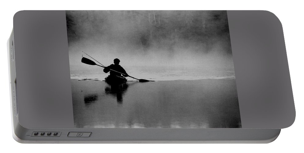 Nature Portable Battery Charger featuring the photograph Morning Paddle by Lisa Kane