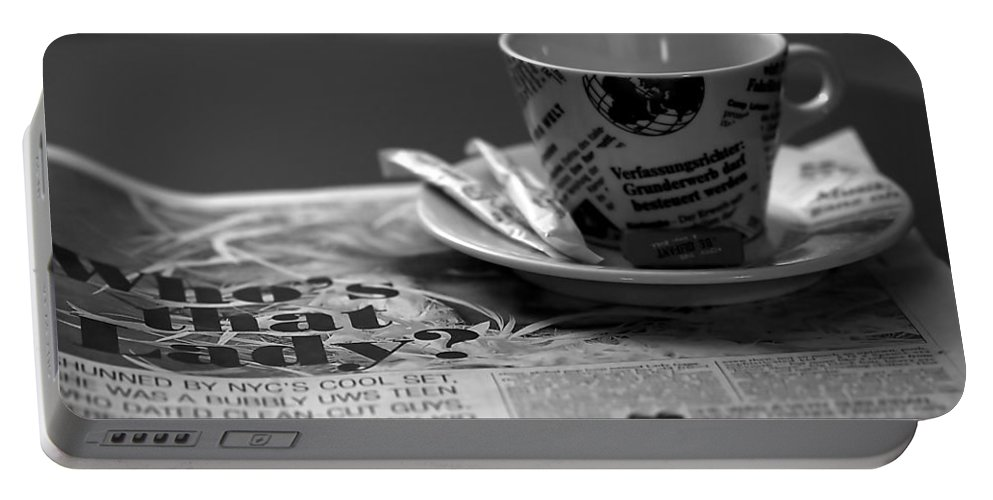 Blur Portable Battery Charger featuring the photograph Morning Read by Evelina Kremsdorf
