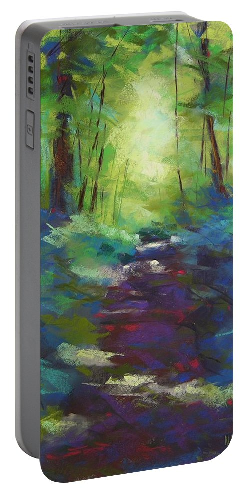 Pastel Portable Battery Charger featuring the painting Morning Walk I by Mary McInnis