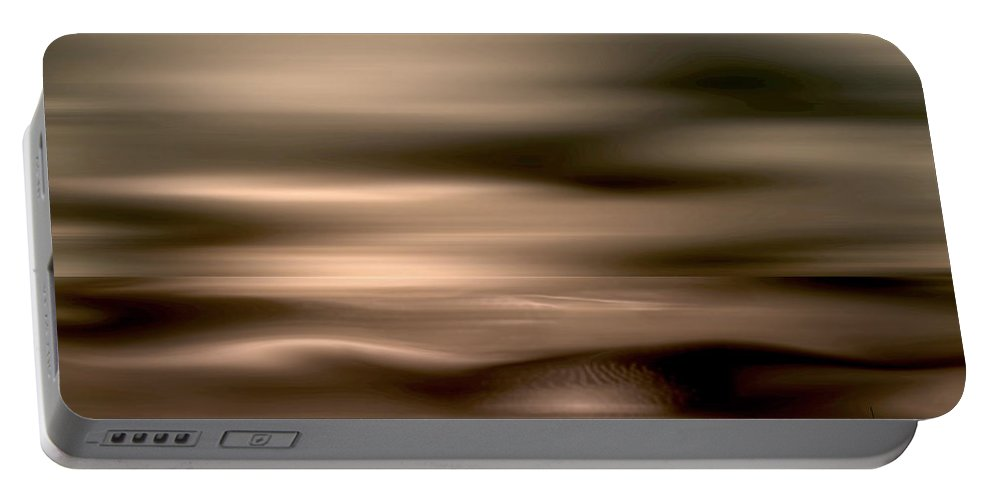 Abstract Portable Battery Charger featuring the digital art Morpheus by Joseph Tamassy