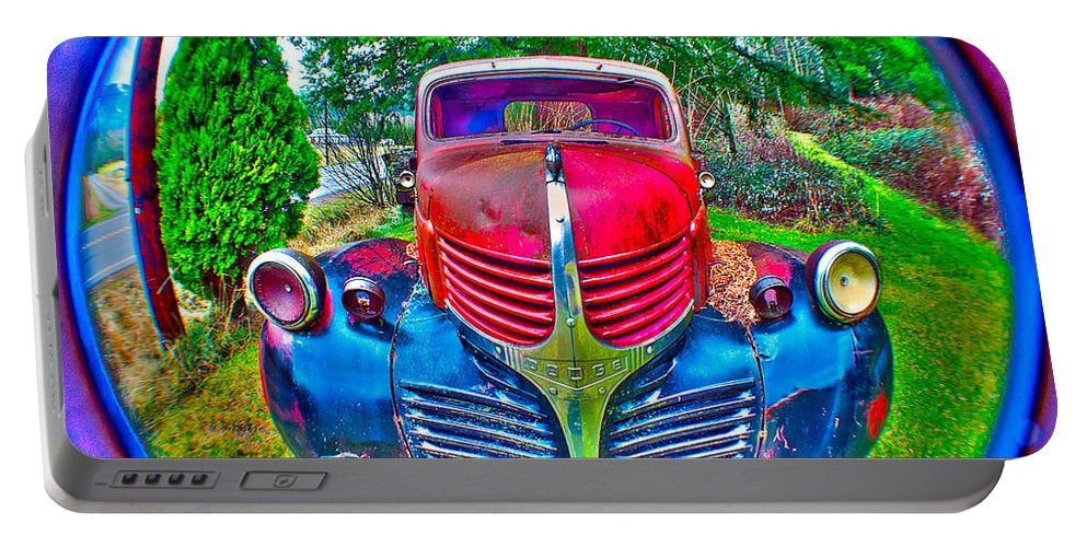 Art Portable Battery Charger featuring the photograph Morphing Mopar by Clayton Bruster