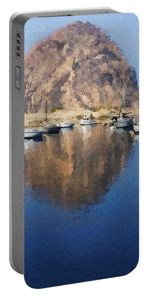 Boat Portable Battery Charger featuring the photograph Morro Harbor by Sharon Foster