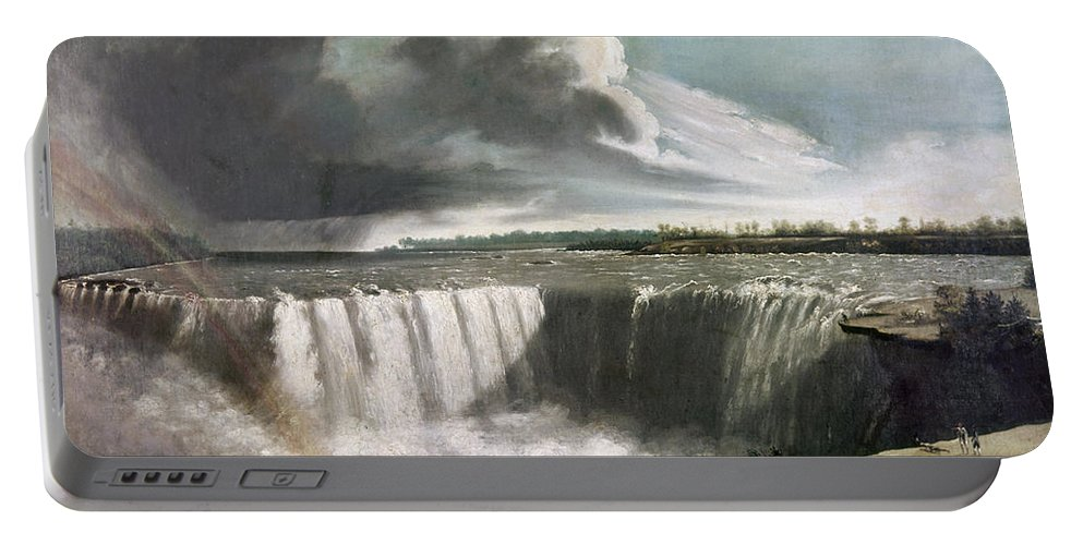 1835 Portable Battery Charger featuring the photograph Morse: Niagara Falls, 1835 by Granger