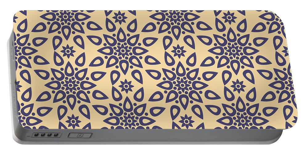 Ornament Portable Battery Charger featuring the tapestry - textile Mosaic by Abdulkadir Kattan