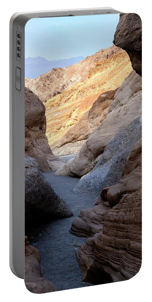Mosaic Canyon Portable Battery Charger featuring the photograph Mosaic Canyon by Kelley King