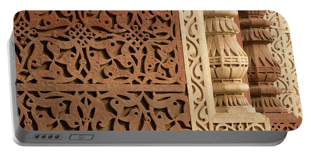 Asia Portable Battery Charger featuring the photograph Mosque Detail by Emily M Wilson