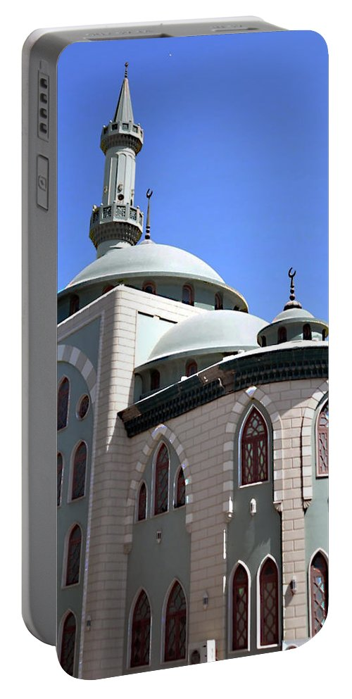 Mosque Portable Battery Charger featuring the photograph Mosque by John Hughes
