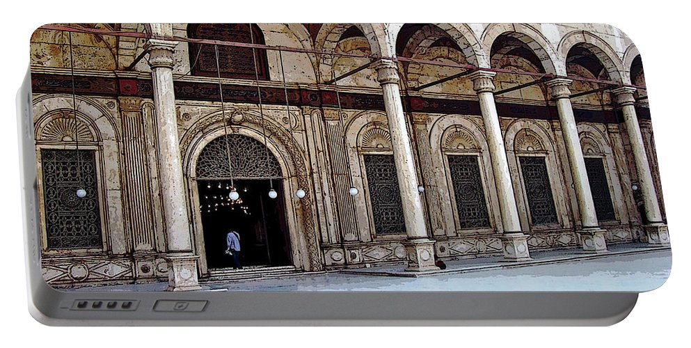 Cairo Portable Battery Charger featuring the photograph Mosque Of Muhammad Ali Entrance by Debbie Oppermann
